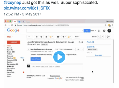 The Google Docs Scam