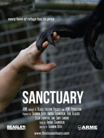 Promotional poster for Sanctuary, directed by Shannon Keith
