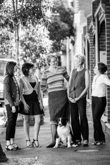 L-R: Lisa Chalk, Shatha Hamade, Karen Nilsen, Lyn White, and Glenys Oogjes.