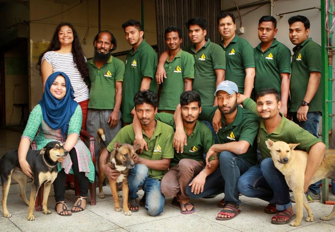 Rubaiya Ahmad and her team at Obhoyaronno