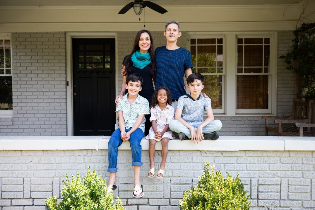Leah Garcés and her family