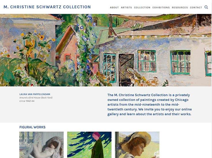 Screenshot of M. Christine Schwartz Collection website