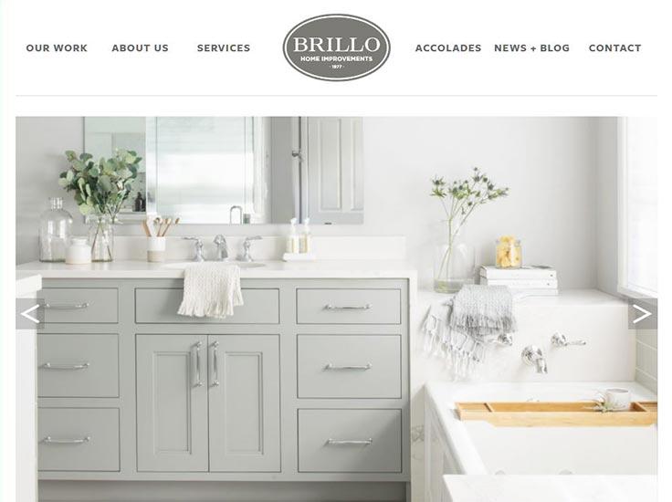 Screenshot of Brillo Home Improvements website