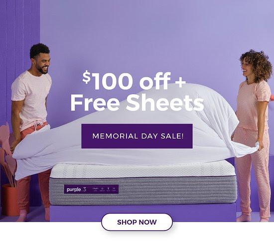 Purple memorial day sale