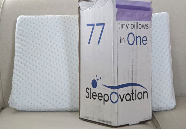 Sleep ovation pillow and box