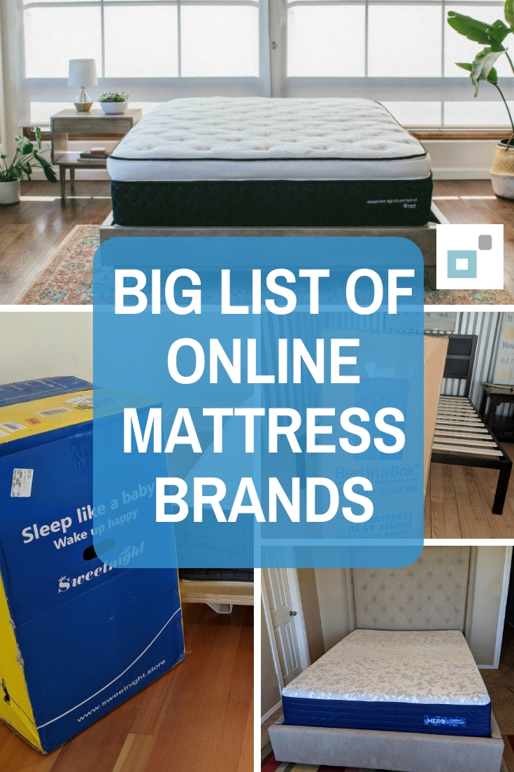 List of online mattresses in a box