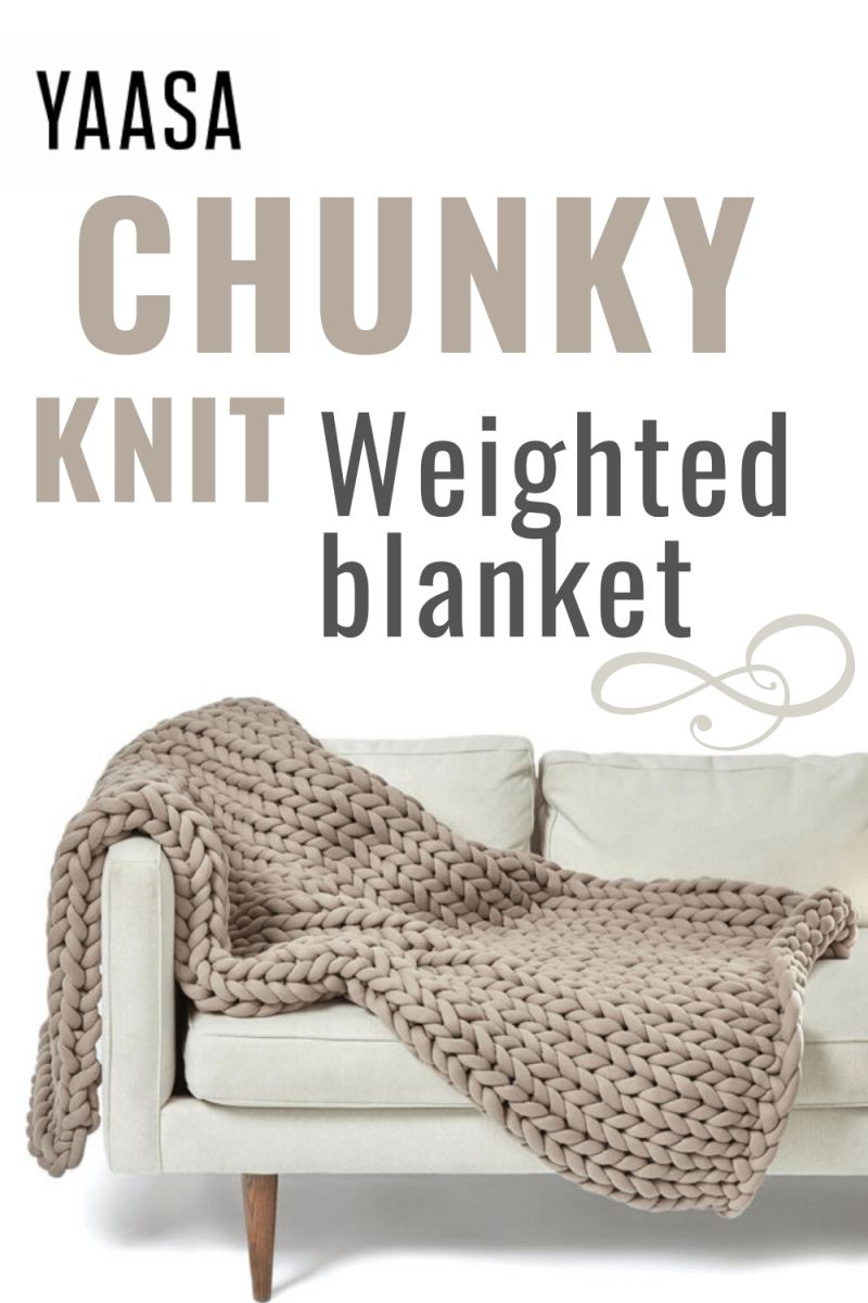 Yaasa Chunky Knit Weighted Blanket