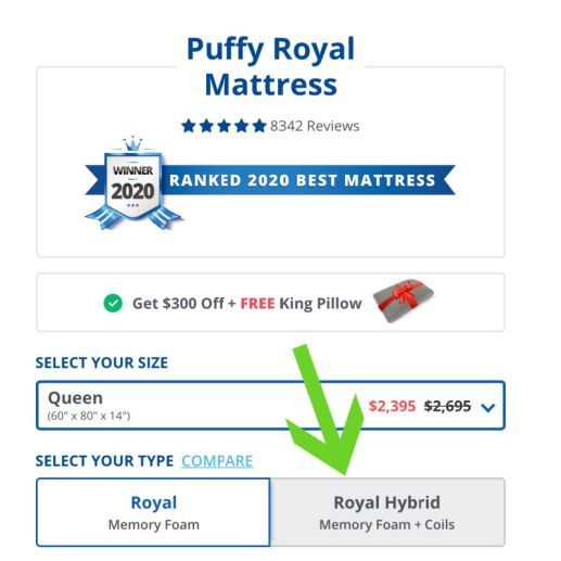 Puffy mattress foam or hybrid