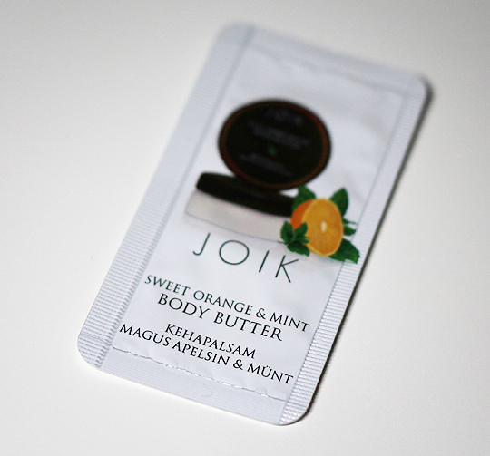JOIK Sweet Orange & Mint Body Butter (Probe)