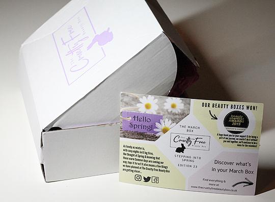 The Cruelty Free Beauty Box März 2019