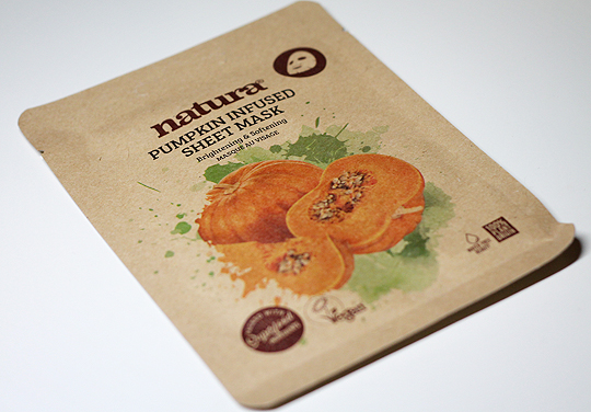 (natura) Pumpkin Infused Sheet Mask