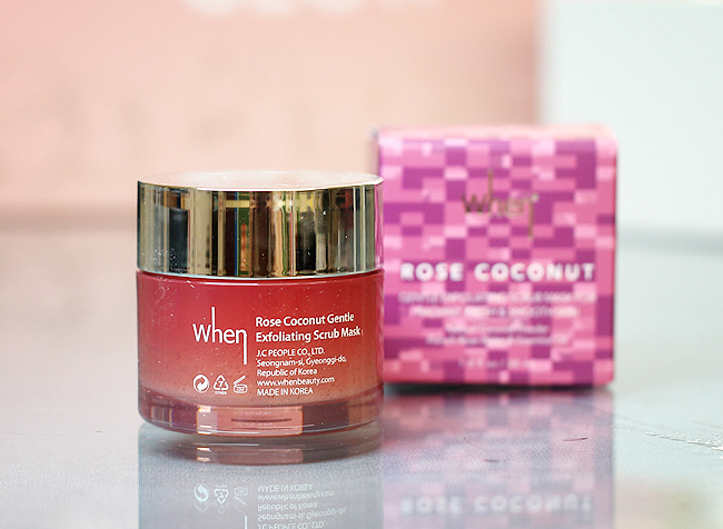 [When] Rose Coconut Gentle Exfoliating Scrub Mask