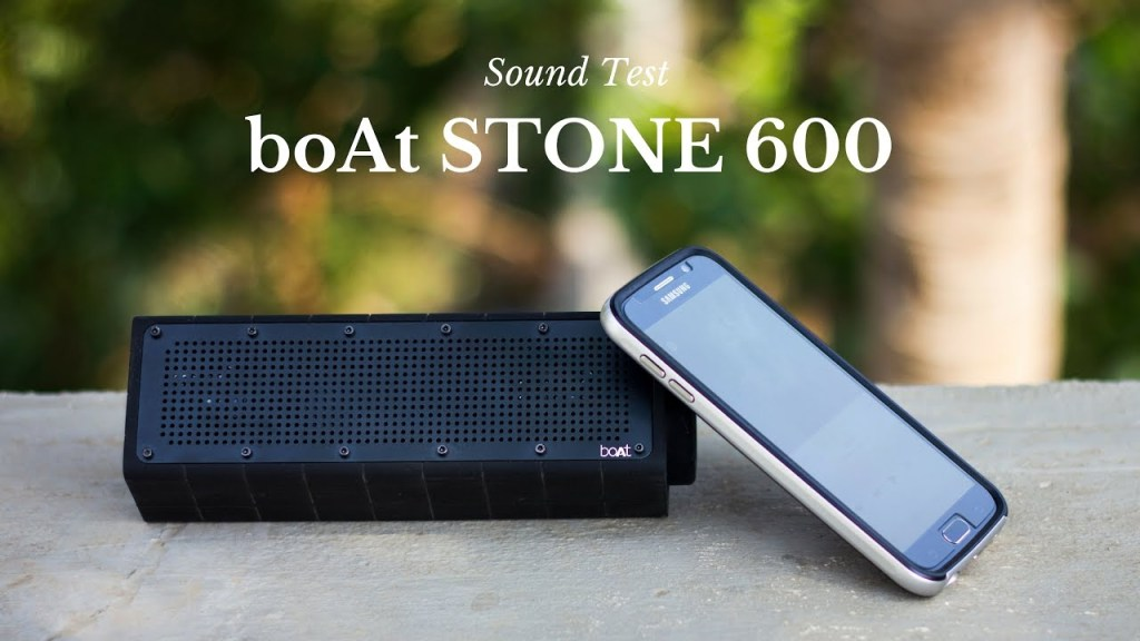 Boat Stone Bluetooth Speakers UnBumf