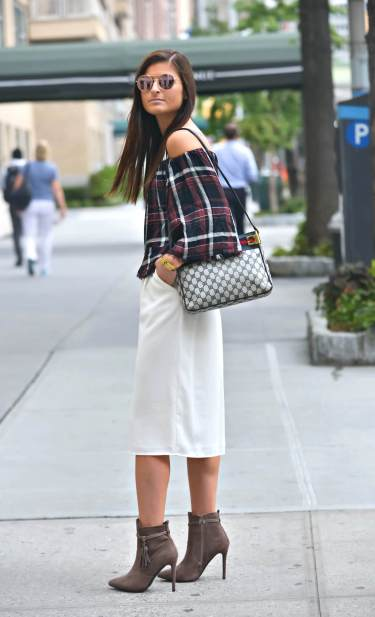 light layering with plaid top