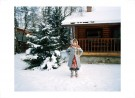 Alina standing outside the dacha