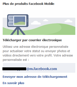 adresse Facebook Mobile