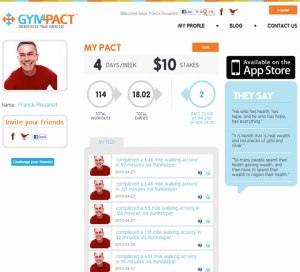 site Internet GymPact