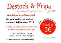 Flyer para la tienda Destock & Fripe. Paris. Francia.