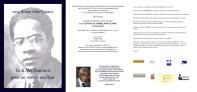 Proyecto de tríptico para las jornadas sobre el poeta Aimé Césaire. Paris. Francia.