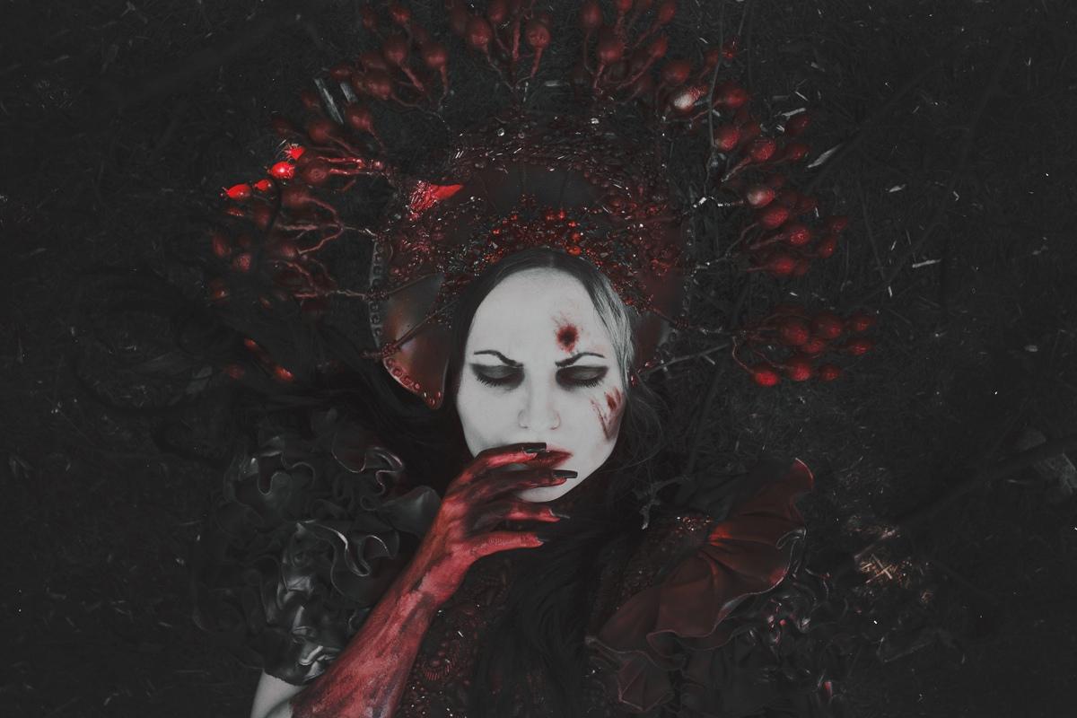 Fine art photograph bloody woman