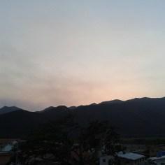 Montaña. Amanecer