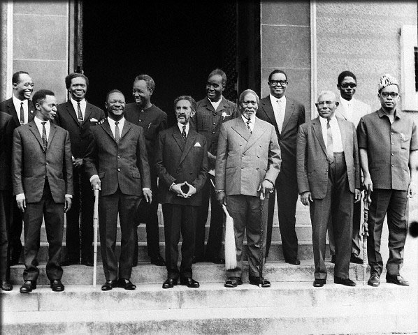 African heads of state at the establishment of the OAR