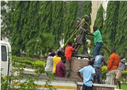 Statue of Ghandi removed from Ghana University