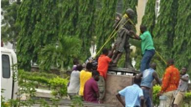 Statue of Ghandi removed from Ghana University