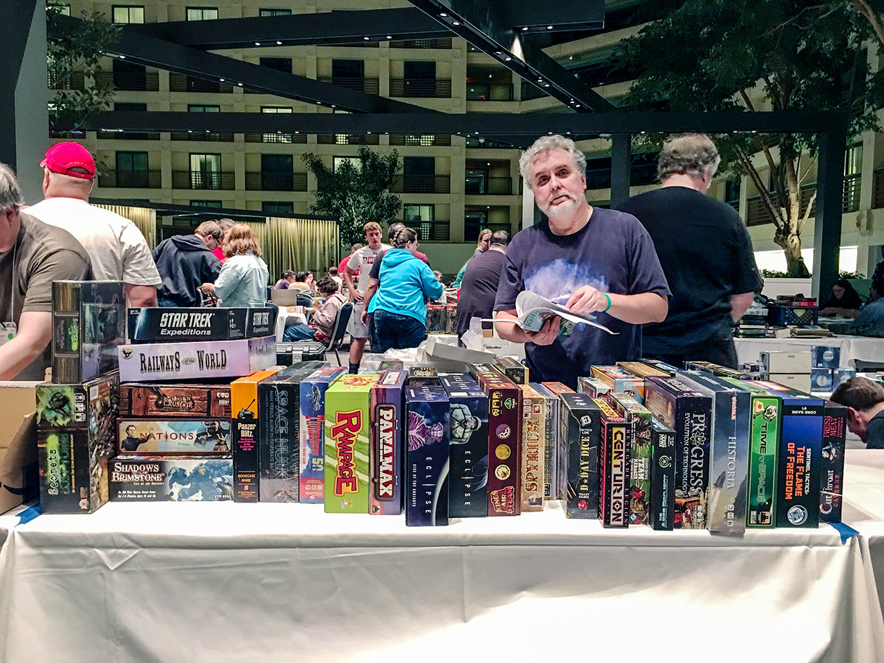 tabletop gaming at kublacon an essay in pictures uncertainty new game demos constitute another rite of passage both game resellers and game companies run demo games many publishers give games and swag to