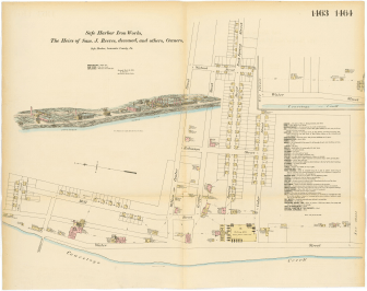 Map of Safe Harbor Iron Works 1880.