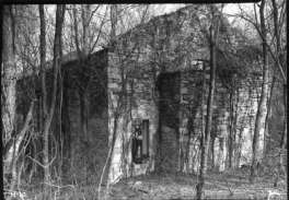 The ruins of St. Mary's Catholic Church in 1955.