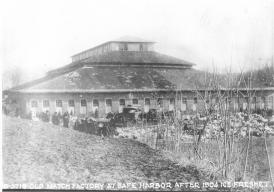 Match Factory at Safe Harbor 1904 ice freshet. In this year the river froze over and heavy rains up river caused the ice to break up. Heavy damage occurred.