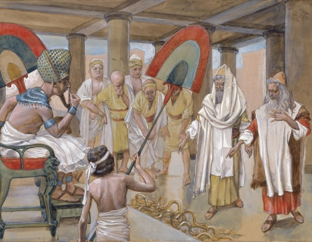 James Tissot, The Rod of Aaron Devours the Other Rods