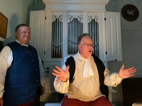 Organ builder David Tannenberg portrayed by Jeff Gemmell. Assisted by Rick Wagner.