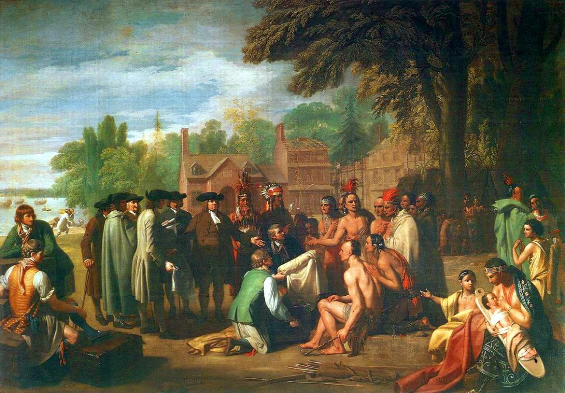 'Treaty of Penn with Indians' by Benjamin West.