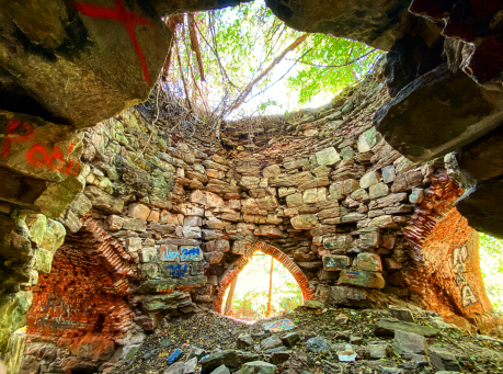 Inside of St. Charles Furnace