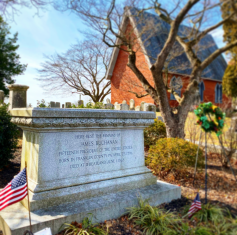 Grave of James Buchanan in Lancaster's Woodward Hill Cemetery.