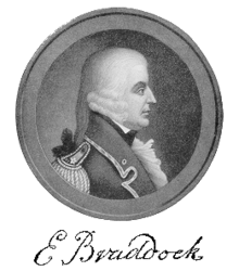 British Major General Edward Braddock (January 1695 – 13 July 1755).
