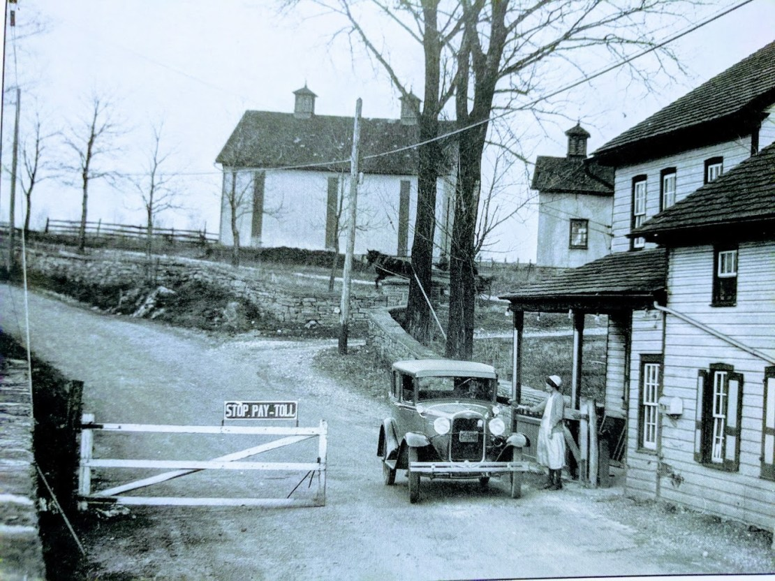 Century-old toll collection on New Holland Pike near Pleasure Road.