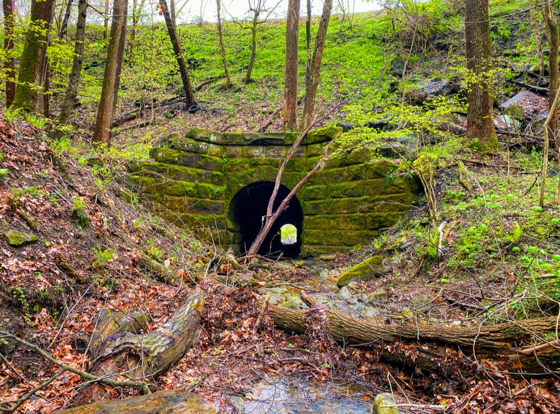The culvert where the chemical, naphid, likely pooled.