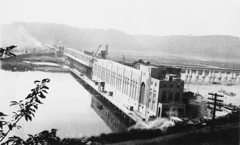 1931 Postcard of Safe Harbor Hydroelectric Dam