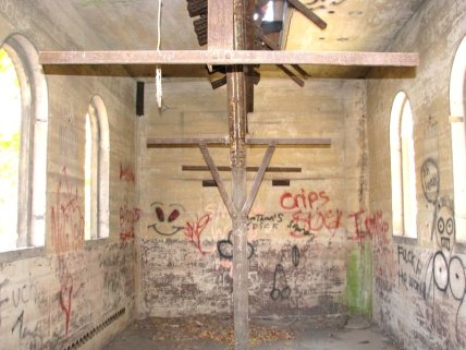 Interior of the now demolished Alford Tower.
