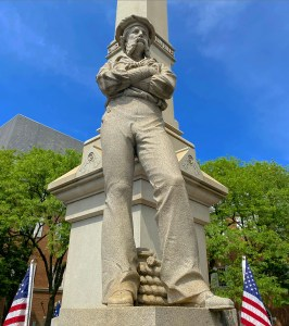 The southeast corner of the monument represents the navy.