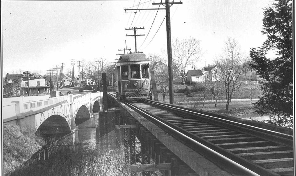 Photo of 1933 bridge & trolley bridge over Conestoga.jpg