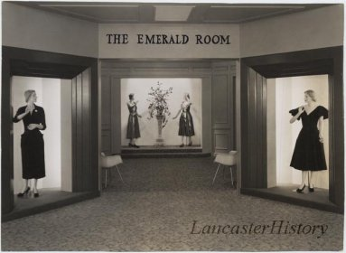 The Emerald Room - ladies' fine fashions at Watt and Shand.