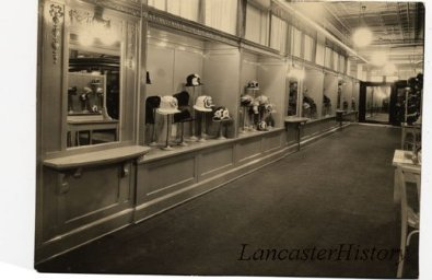 View of the French Room, Millinery Department, second floor of Watt and Shand's department store. (Ladies' hats.)