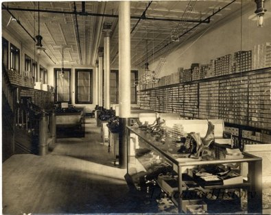 Shoe department at Watt and Shand