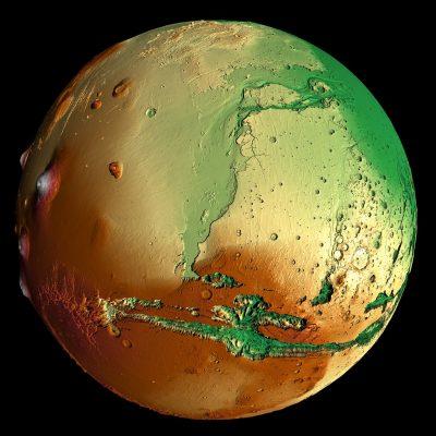 hypsometric mars