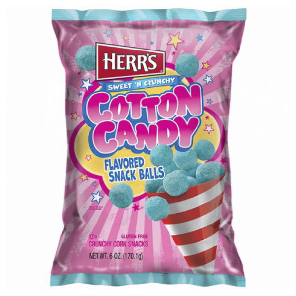 Herr's Sweet N Crunchy Cotton Candy