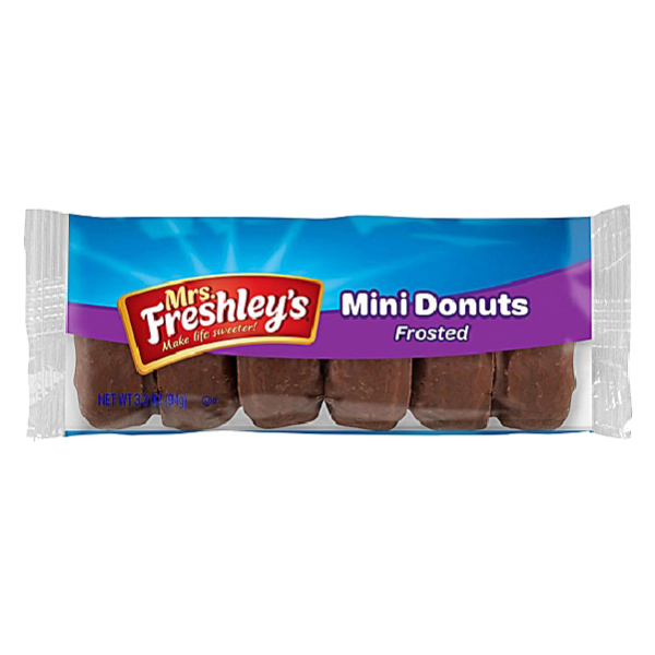 Mrs Freshley's Chocolate Frosted Mini Donuts